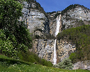 Seerenbach Falls and source of the Rin