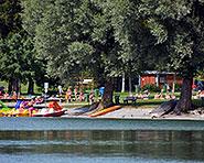 Baldegg lake bathing place