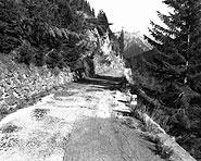 On engineered road over the Lukmanier