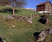 Chemins d'alpage et pont au Grabserberg