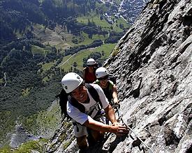 Klettersteig Liechtenstein : Bergfex hanauer klettersteig c d oder variante über die
