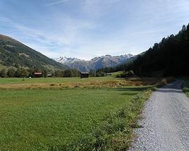 Vier Freiburger auf der Rhoneroute durchs Wallis